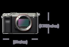 Imagen de una cámara compacta full-frame α7C